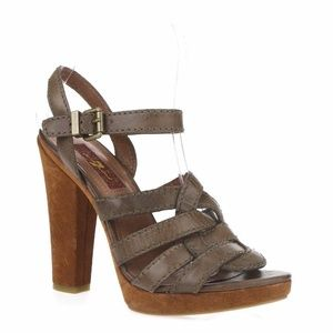 7 for All Mankind Ankle Strap Heeled Sandals 6.5